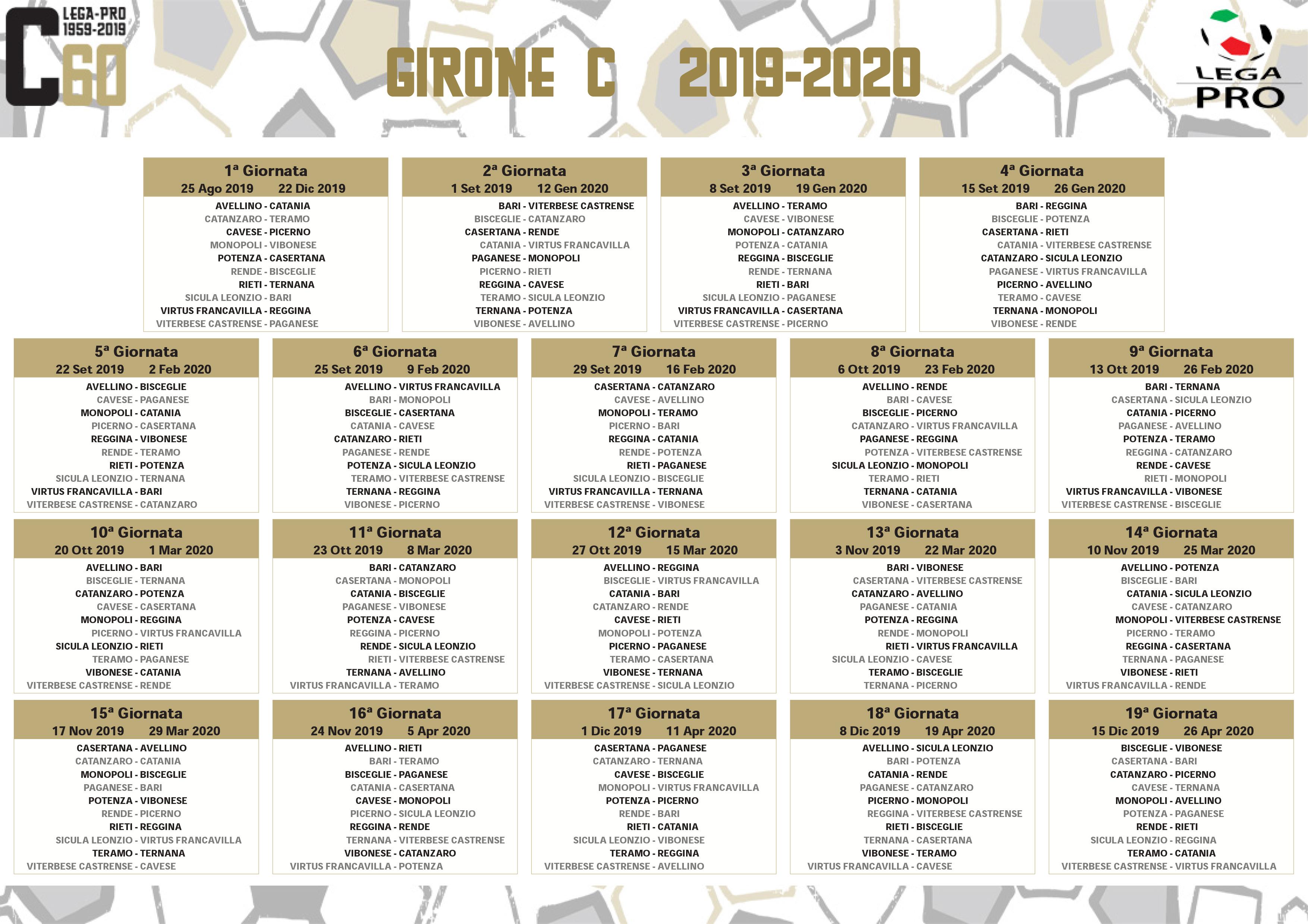 Calendario Team Teramo.Viterbese Il Calendario Completo Avvio In Salita Bari